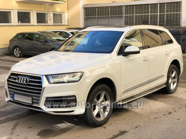 Rental Audi Q7 50 TDI Quattro White in Ibiza