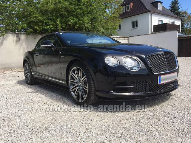 Rental Bentley Continental GTC V12-Speed in Madrid