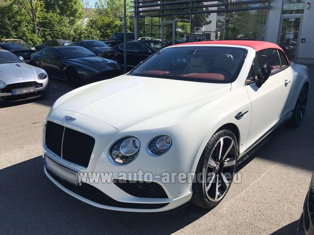 Rental Bentley Continental GTC V8 S in Alicante