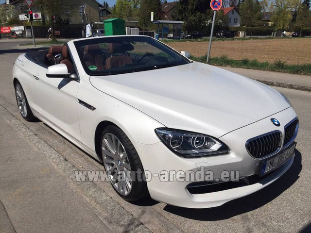 Rental BMW 640 Cabrio Equipment M-Sportpaket in Madrid