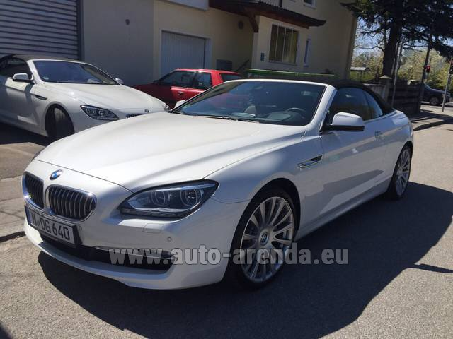 Rental BMW 640d Cabrio Equipment M-Sportpaket in Alicante