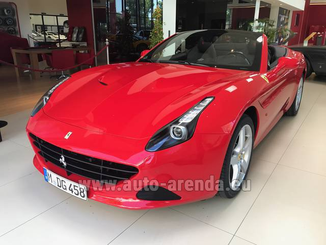 Rental Ferrari California T Convertible Red in Gibraltar