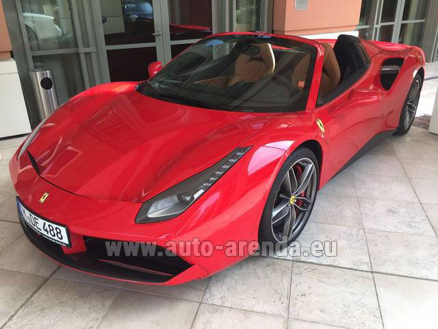 Rental Ferrari 488 GTB Spider Cabrio in Madrid