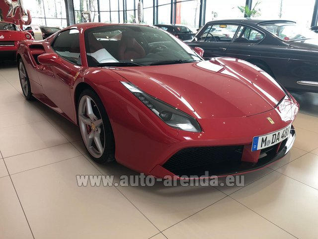 Rental Ferrari 488 Spider in Playa Puerto Banus