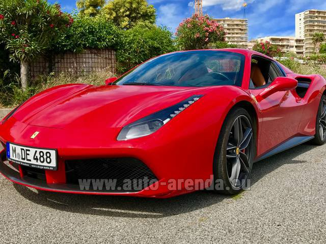 Rental Ferrari 488 in Alicante