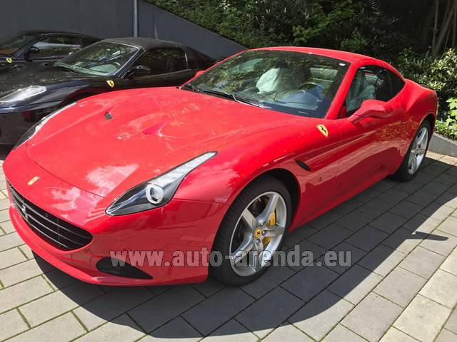 Rental Ferrari California T Cabrio Red in Madrid