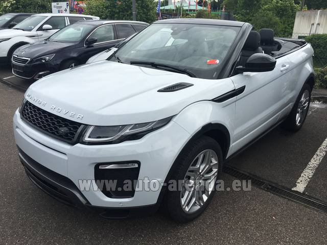Rental Land Rover Range Rover Evoque HSE Cabrio SD4 Aut. Dynamic in Eivissa