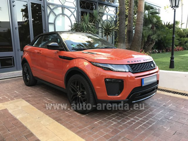 Rental Land Rover Range Rover Evoque HSE Cabrio SD4 in Spain