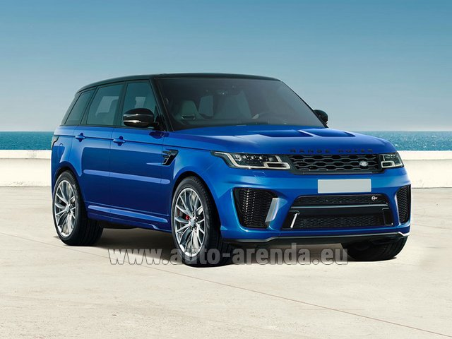 Rental Land Rover Range Rover Sport SVR V8 in Spain