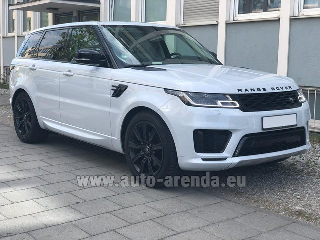 Rental Land Rover Range Rover Sport White in Malaga