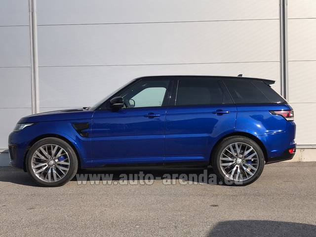Rental Land Rover Range Sport SVR V8 in Spain