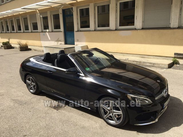 Rental Mercedes-Benz C-Class C 180 Cabrio AMG Equipment Black in Alicante