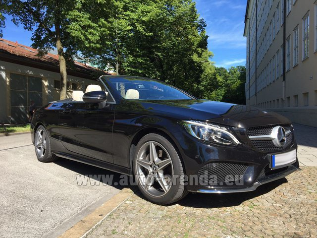 Rental Mercedes-Benz C-Class C 180 Cabrio AMG Equipment Black in Fuengirola