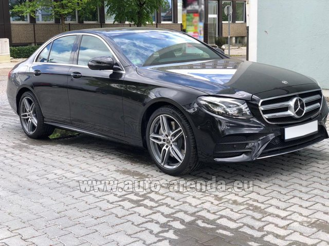 Rental Mercedes-Benz E 450 4MATIC saloon AMG equipment in Spain