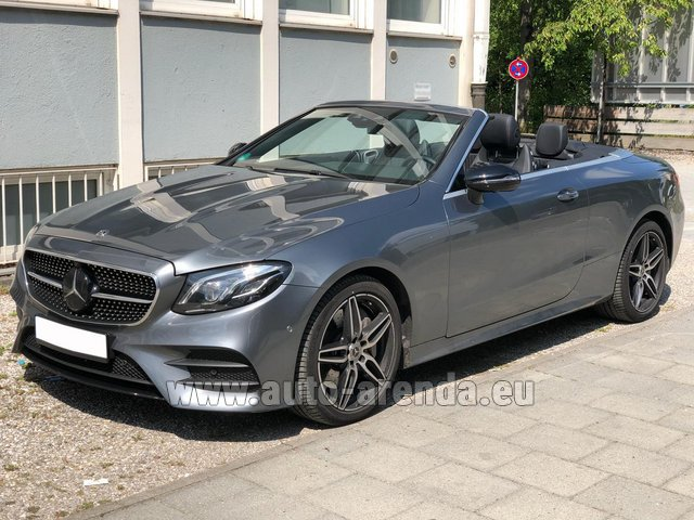 Rental Mercedes-Benz E 450 Cabriolet AMG equipment in Barcelona