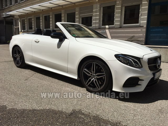 Rental Mercedes-Benz E-Class E 200 Cabrio equipment AMG in Spain