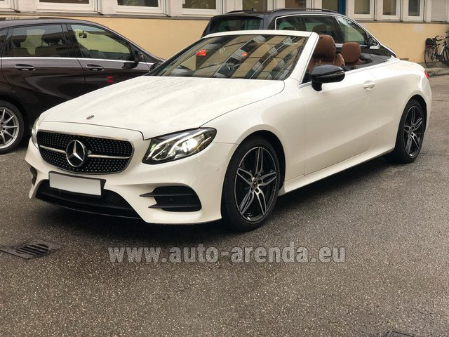 Rental Mercedes-Benz E-Class E300d Cabriolet diesel AMG equipment in Spain