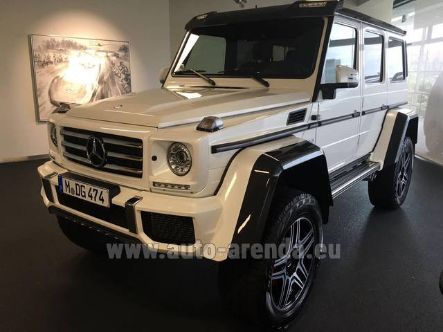 Rental Mercedes-Benz G 500 4x4 White in Spain