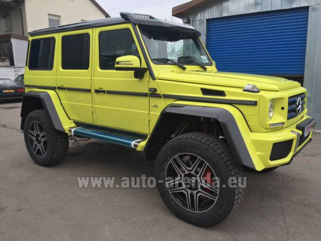 Rental Mercedes-Benz G 500 4x4 Yellow in Spain
