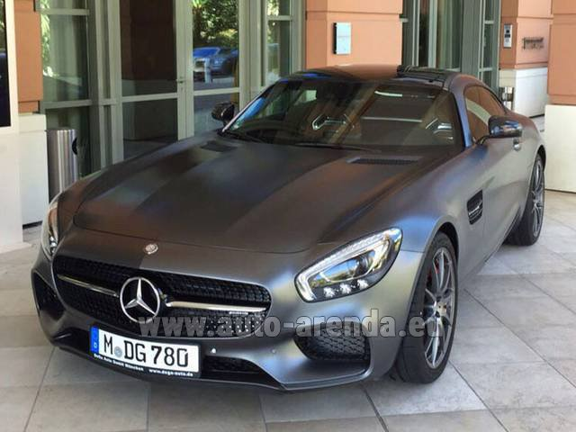 Rental Mercedes-Benz GT-S AMG in San Sebastian