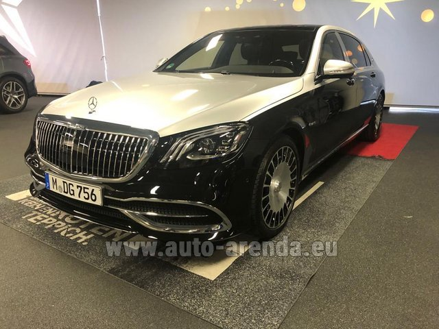 Прокат Maybach S 560 4MATIC комплектация AMG Metallic and Black в Испании