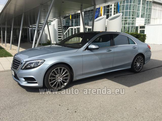 Rental Mercedes-Benz S 350 L BlueTEC 4MATIC AMG in San Sebastian