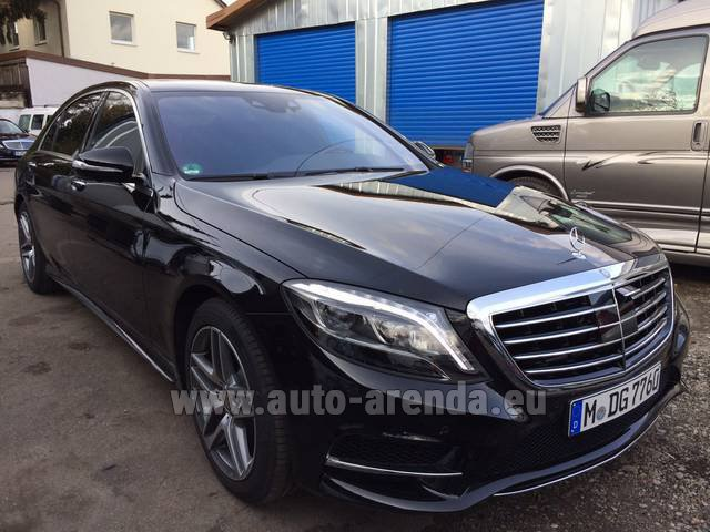 Rental Mercedes-Benz S 350 L BlueTEC AMG in San Sebastian