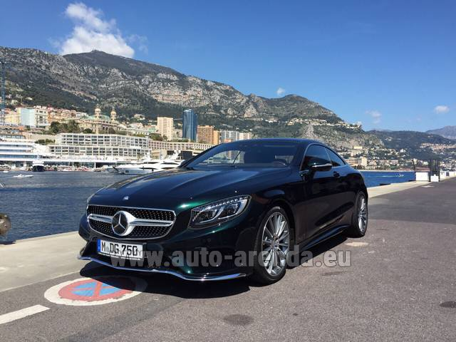Rental Mercedes-Benz S 500 Coupe 4Matic 7G-TRONIC AMG in Malaga
