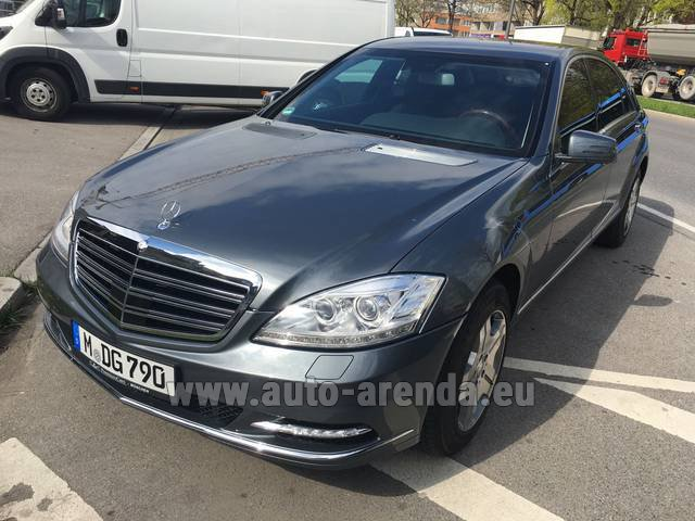 Rental Mercedes-Benz S 600 L B6 B7 Guard FACELIFT in San Sebastian