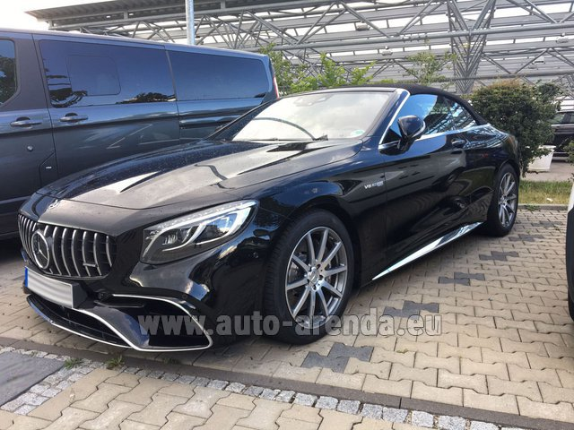 Rental Mercedes-Benz S 63 AMG Cabriolet V8 BITURBO 4MATIC+ in Malaga