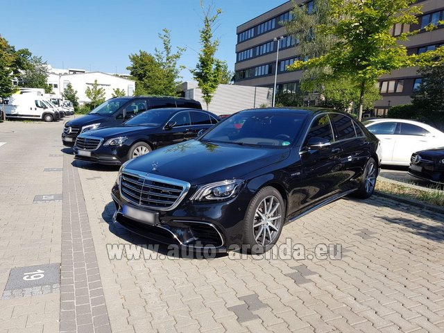 Rental Mercedes-Benz S 63 AMG Long in San Sebastian