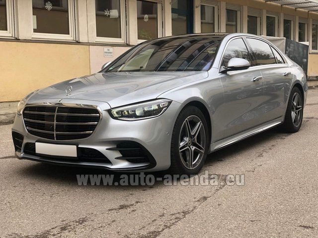 Rental Mercedes-Benz S-Class S 400 Long 4Matic Diesel AMG equipment in Barcelona