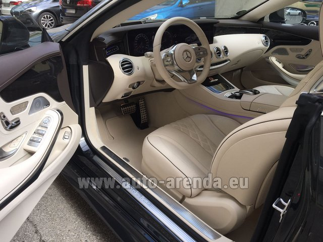 Rental Mercedes-Benz S-Class S 560 4MATIC Coupe in Palma
