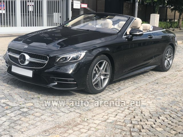 Rental Mercedes-Benz S-Class S 560 Cabriolet 4Matic AMG equipment in Barcelona