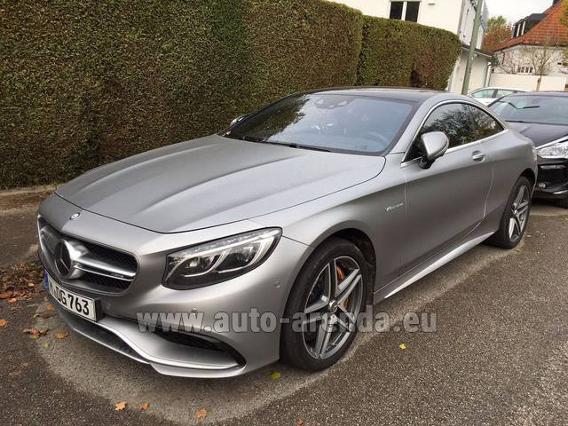 Rental Mercedes-Benz S-Class S63 AMG Coupe in Spain