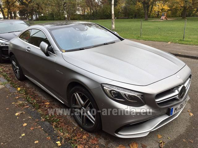 Mercedes Benz S63 Amg Coupe >> Rent The Mercedes Benz S Class S63 Amg Coupe Car In Costa Del Sol