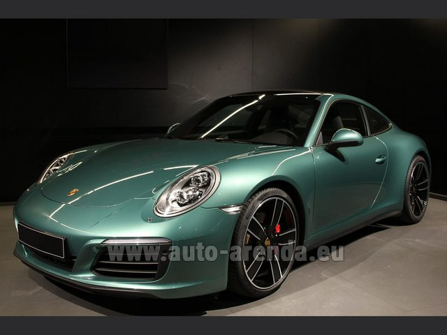 Rental Porsche 911 991 4S Racinggreen Individual Sport Chrono in Madrid