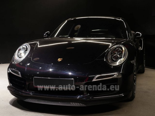 Rental Porsche 911 991 Turbo S Ceramic LED Sport Chrono Package in Malaga