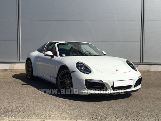Rental Porsche 911 Targa 4S White in Costa del Sol