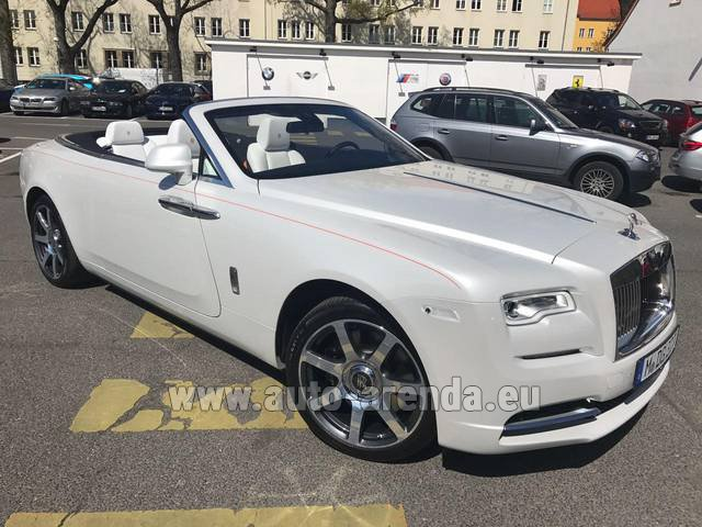 Rental Rolls-Royce Dawn (White) in Barcelona