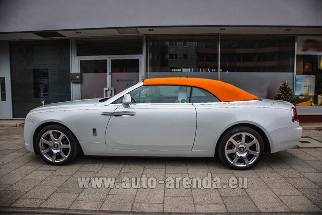 Rental Rolls-Royce Dawn White in San Sebastian