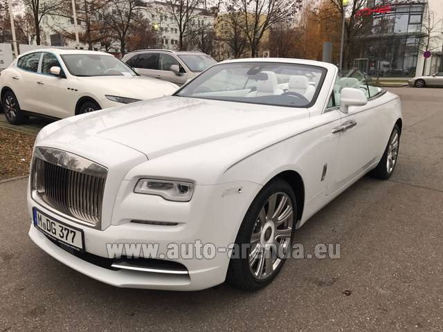Rental Rolls-Royce Dawn in Barcelona